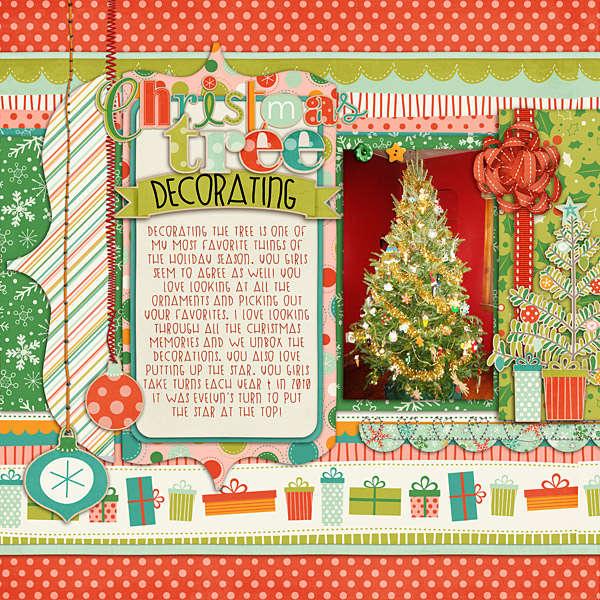 Christmas tree Decorating (left side)