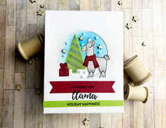 Llama Holiday Happiness