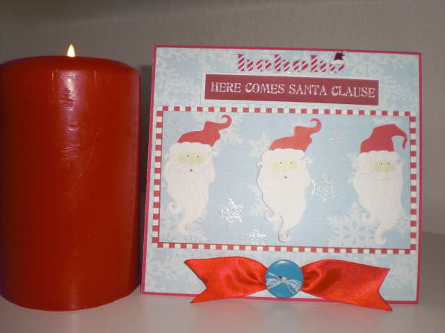 HoHoHo Here comes santa clause card