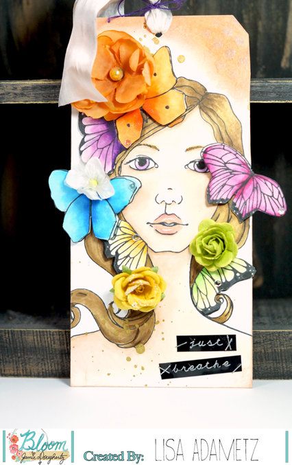 Sharon Bloom Girl Tag by Lisa - papergrace