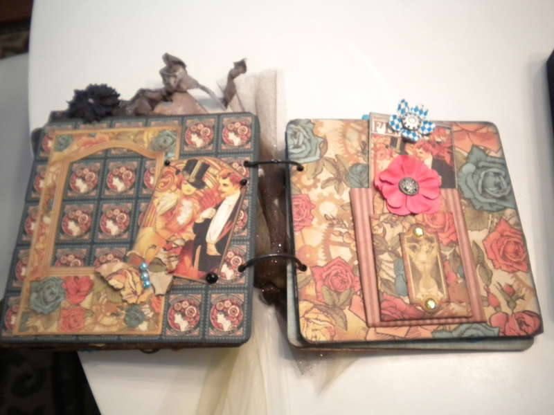 Graphic45 swap-mini and cigar box