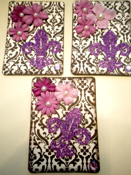 My 2nd set of Atc B&W with color(purple)