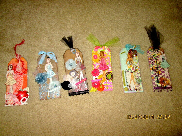 All my Julie  Nutting Tags for Swap