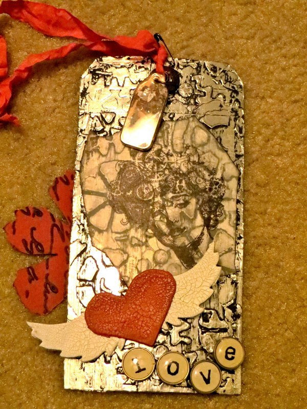 My First tag for the Steampunk/Valentine tag swap