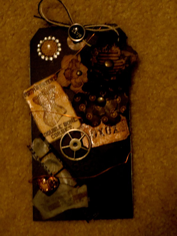 My second tag for Steampunk/Valentine tag swap