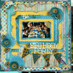 5th Birthday Pary***Scrap Fx***Bo Bunny Sketch