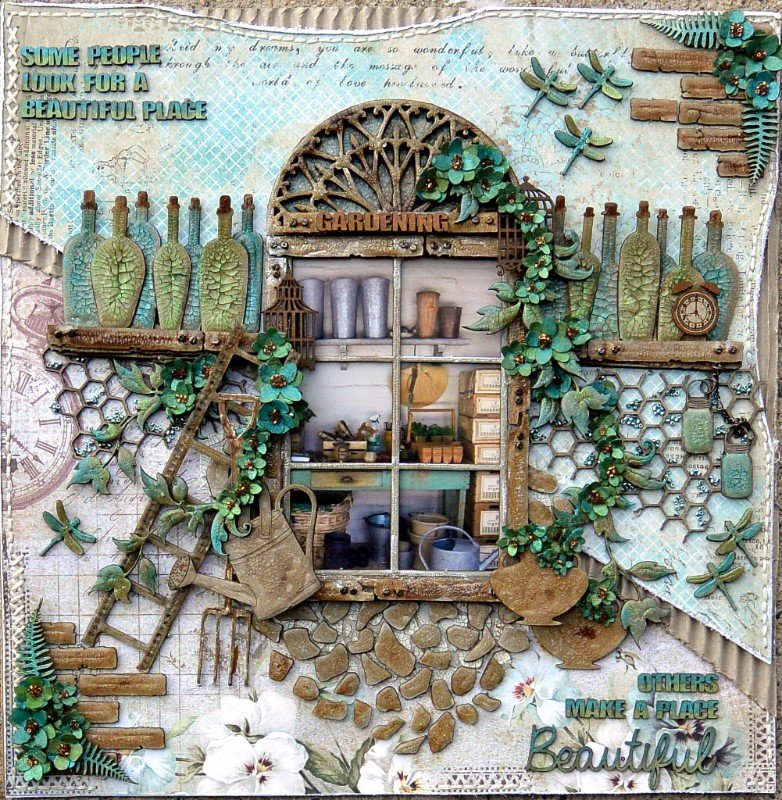 Gardening ***Dusty Attic's Mood Board for August***