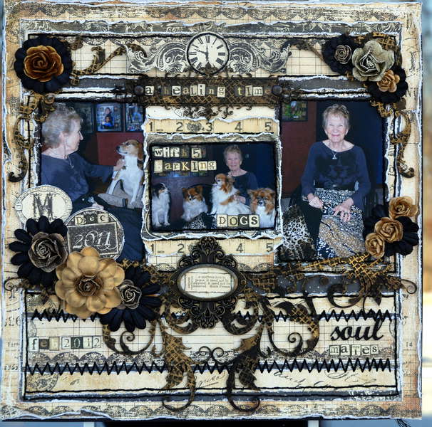 "A Healing Time ""Scraps of Darkness""Feb Kit(Victoriana)"