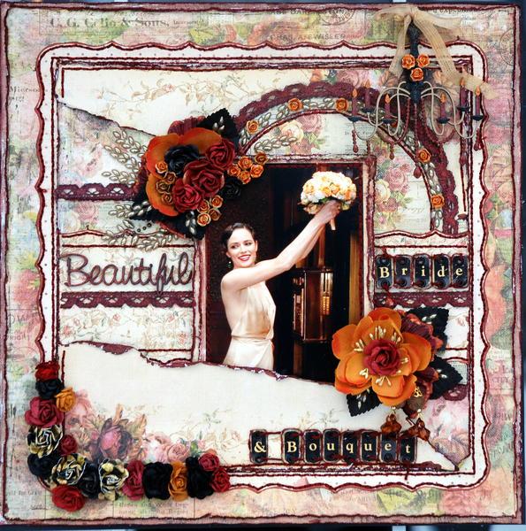 Beautiful Bride & Bouquet ***Prima PPP***Scrap Fx
