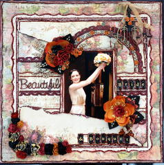 Beautiful Bride & Bouquet ***Prima PPP***Scrap Fx