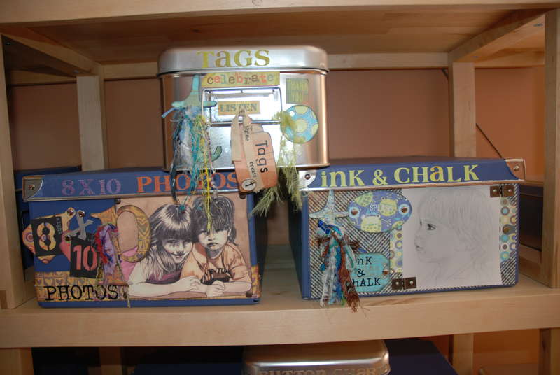 scrapbooked boxes