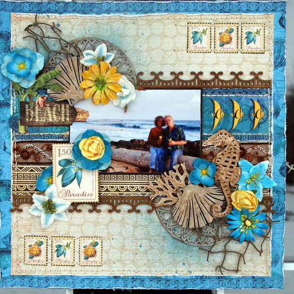 "Paradise ""Scraps of Darkness""January Kit Escape"