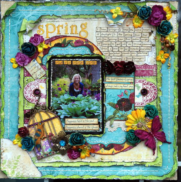 "Spring is in the air ""Bo Bunny Spring is in the air challenge"" [Scrap Fx]"