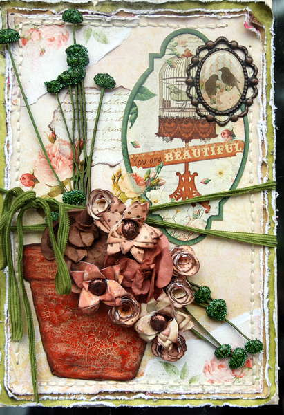 You are Beautiful ***Bo Bunny card challenge**Scrap Fx