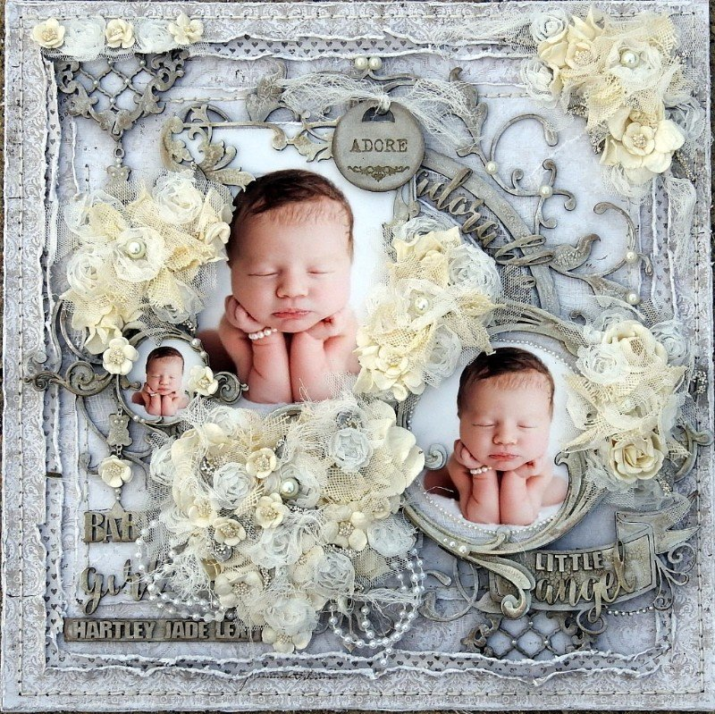 Adorable little Angel ***Dusty Attic Mood Board for March***