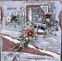 Winter Comforts ***Dusty Attic Mood Board for December***