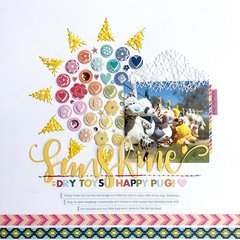 Sunshine = Dry Toys, Happy Pug!