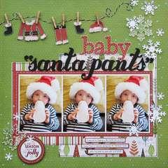 Baby Santa Pants *Imaginisce*
