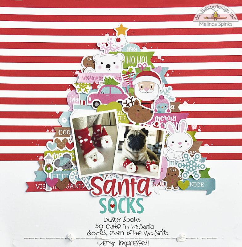 Santa Socks *Doodlebug Design*