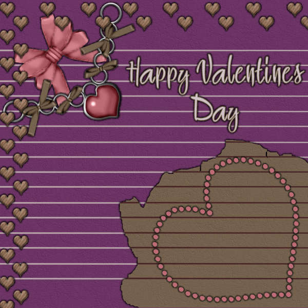 Blank Quickpage 1 - Love Kit - Happy Valentines Day