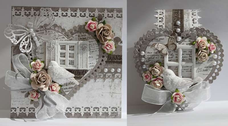 Card and heartbasket