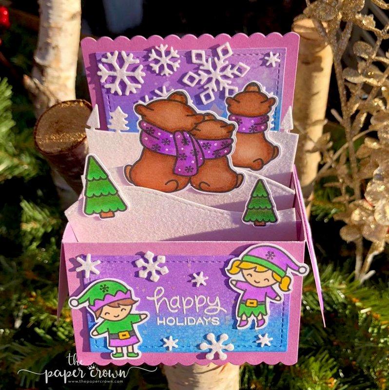 Purple Skies Holiday Box Card