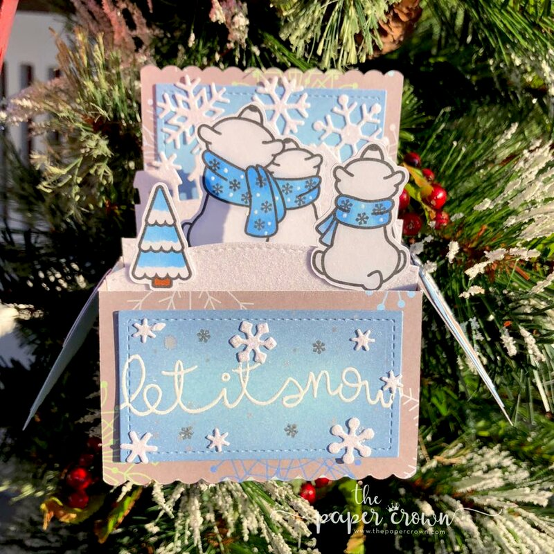 Blue Winter Skies Box Card
