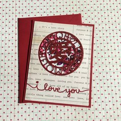 Amore Shaker Card