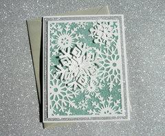 Glittered Snowflakes