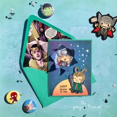 Superhero Greeting Card Set