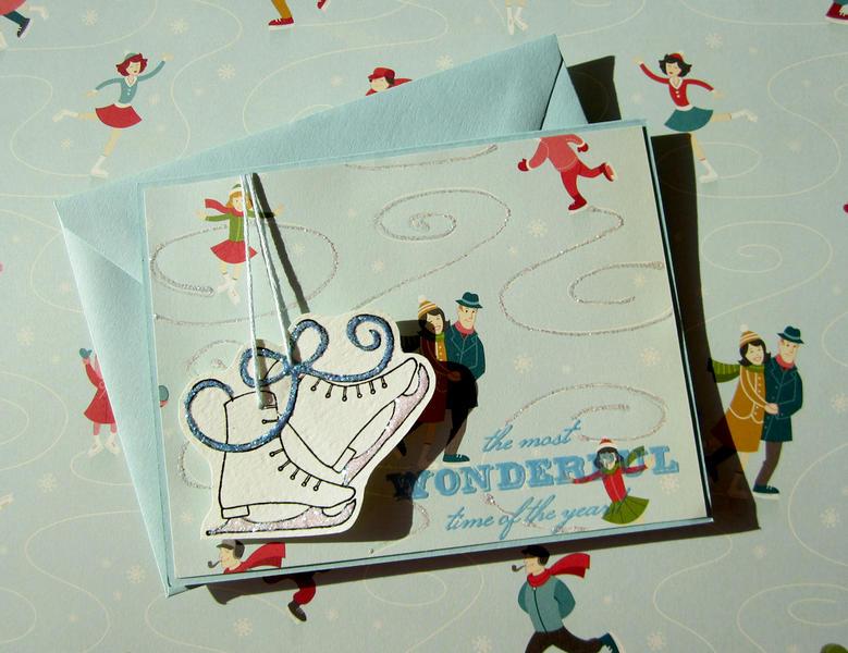 Ice Skates- blue shoelaces