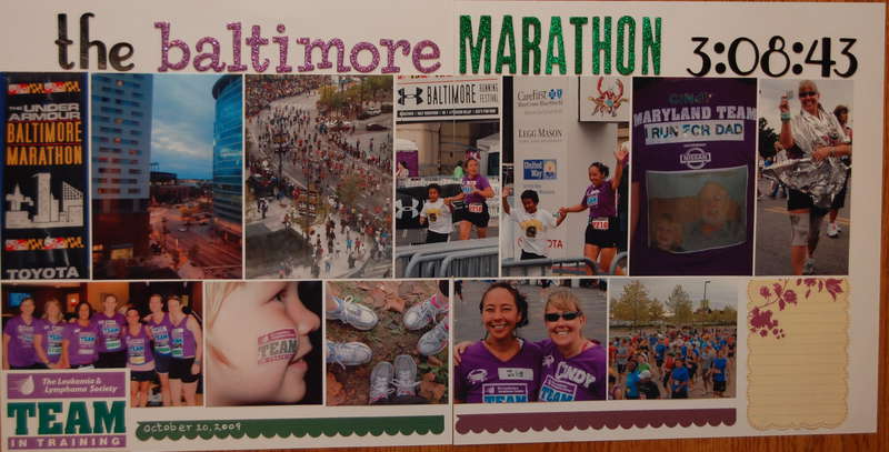 the Baltimore Marathan (3:08:43)