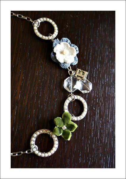 Vintage Groove Necklace (blue/green)