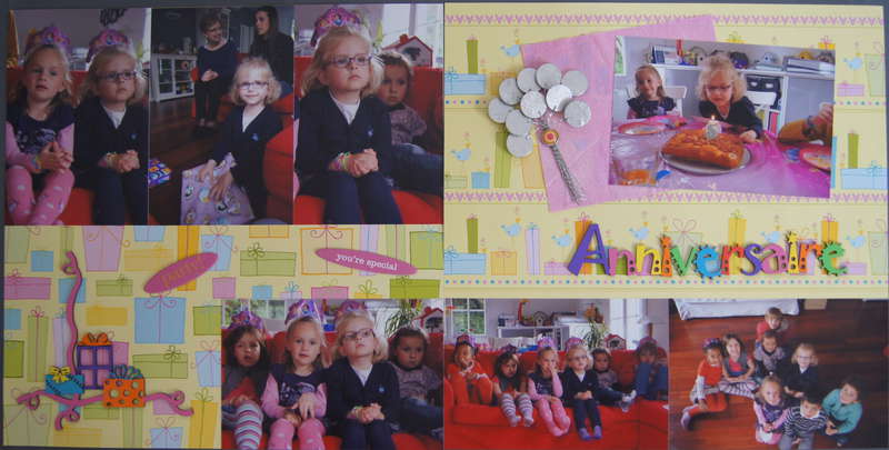 Double page LO - My daughter's 5th birthday