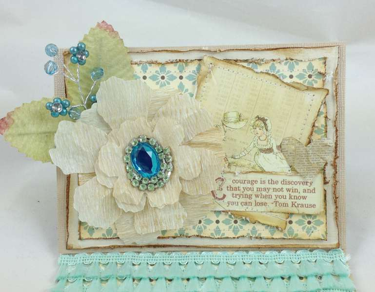 Courage Easel Card