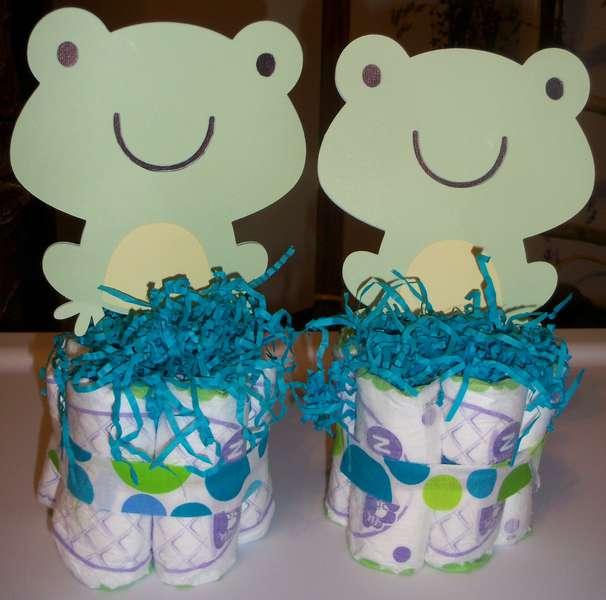 Frog Diaper Cakes