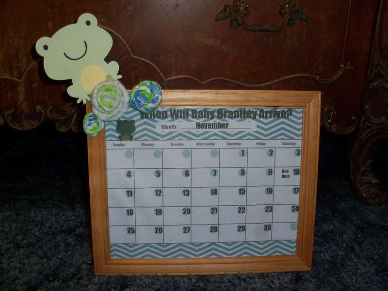 Baby Shower Game Frame