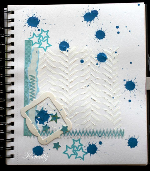 art journal page: sometimes less is more