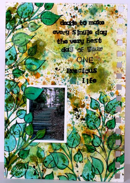 art journal page: one precious life