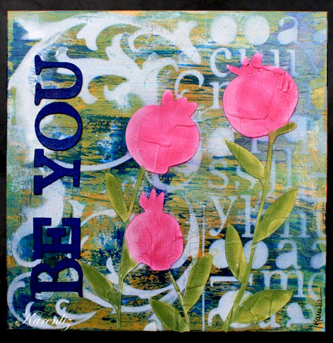 Be You - 8x8 Mixed media