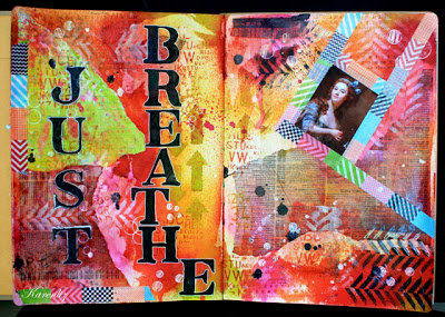 Just Breathe - Art Journal Pages