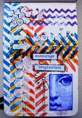 Art/Visual Journal Page: Encourage Imagination