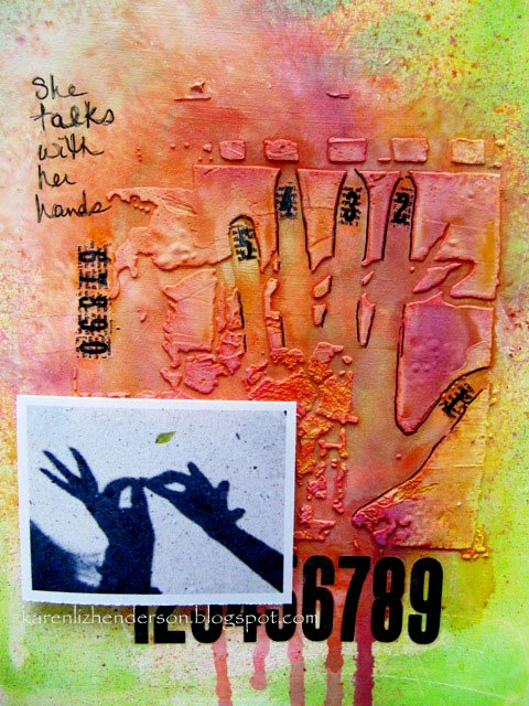 Art Journal Page: She Talks with Her hands