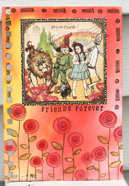 Forever Friends Art Journal Page
