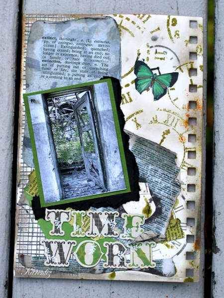 Time Worn - ART JOURNAL PAGE