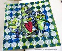 Camouflaged Crazy Birds Card