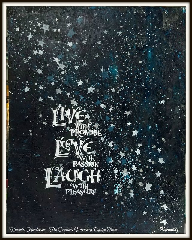 Live Laugh Love Yupo Painting