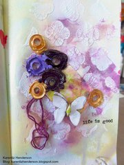 Life Is Good: Mini Art Journal page