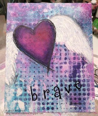 9x12 canvas panel: Be Brave