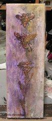 4x12 Canvas - Using Daily Buzz TCW Stencil